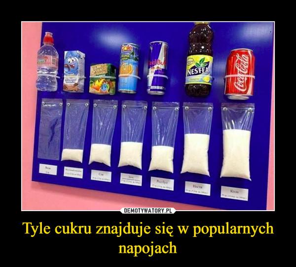 Tyle cukru znajduje się w popularnych napojach –